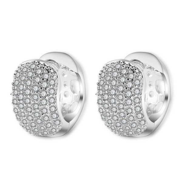 Ladies' Chic Copper/Cubic Zirconia Cubic Zirconia Earrings For Bride