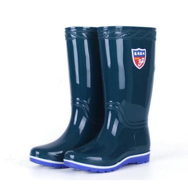 De mujer PVC Tipo de tacón Botas Botas a la rodilla Botas de lluvia con Otros zapatos