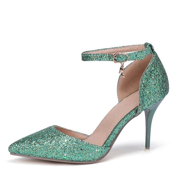 Женщины Лакированная кожа Высокий тонкий каблук На каблуках с Другие обувь