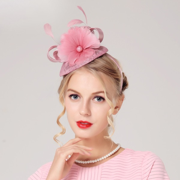 Ladies' Gorgeous/Fashion/Glamourous Linen With Feather/Flower Beret Hat