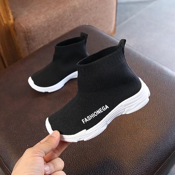 Unisexe bout rond Bout fermé Tissu talon plat Chaussures plates Bottes Sneakers & Athletic