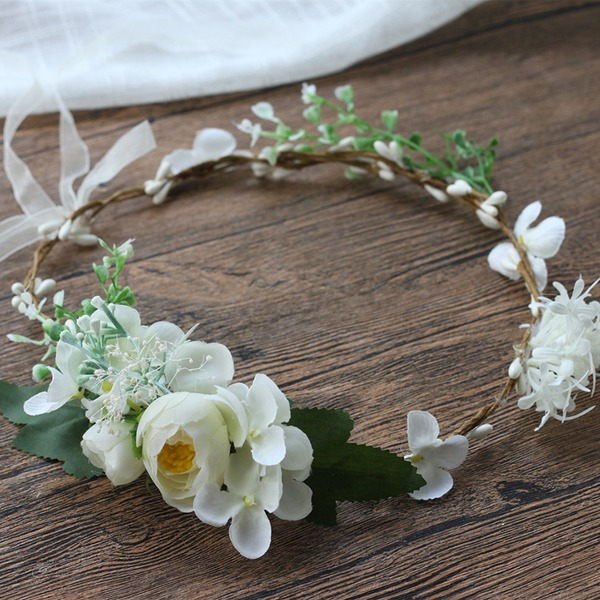 Elegant Round Satin Decorations/Headdress Flower (Sold in a single piece) - Headdress Flower