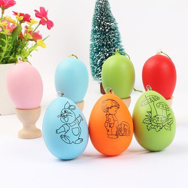 Diseño Huevo Plástico Diseño Huevo (Juego de 12)
