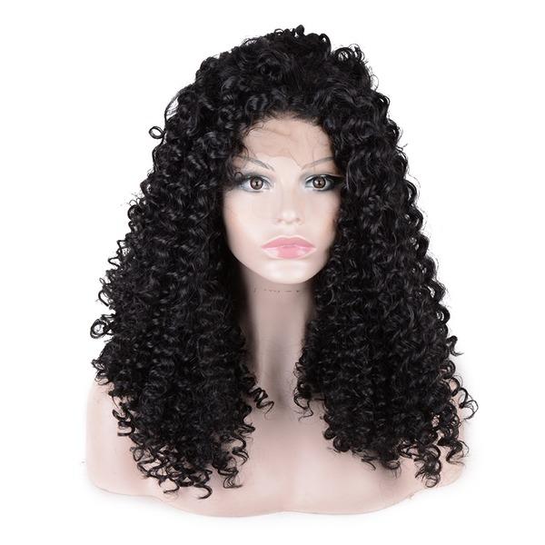 Curly Syntetiske parykker Lace Front Parykker