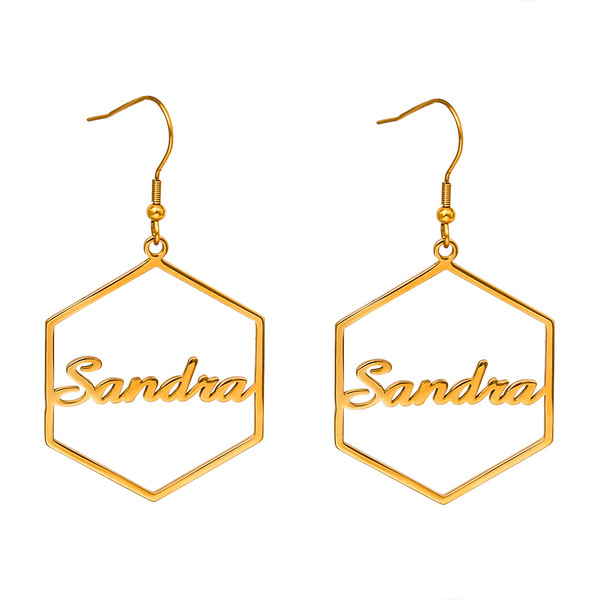 Personalized Ladies' Unique Stainless Steel Name Earrings Earrings For Bridesmaid/For Friends/For Her