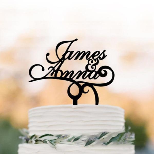 personnalisé Style Classique Acrylique/Bois Décoration pour gâteaux
