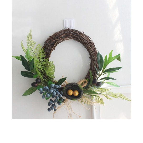 2017 New Pastoral Style Home Wall Ornament Living Room Background Wall Decoration Pendant Lintel Simulation Wreath