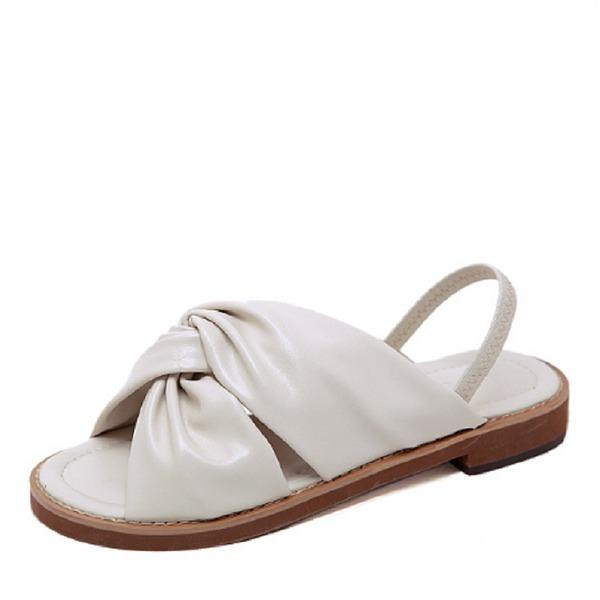 Dámské PU Placatý podpatek Sandály obuv