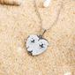 Personalizado Plata Corazón En Blanco Y Negro Collar De La Foto - Regalos Del Día De La Madre