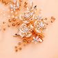 Señoras Hermoso Rhinestone/Aleación/La perla de faux Horquillas con Rhinestone/Perla Veneciano (Se venden en una sola pieza)
