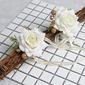 Estilo clásico Forma libre Tela Conjuntos de flores - Ramillete de muñeca/Boutonniere