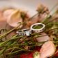 Sterling Silver Cyrkonia Zabytkowe Znakomity Owalne Cięcie Zestawy ślubne -