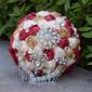 Sencillas y elegantes Redondo Flores de seda Ramos de novia - Ramos de novia
